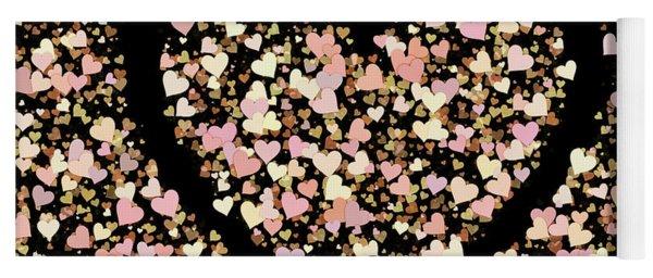 Forever Love Heart Yoga Mat
