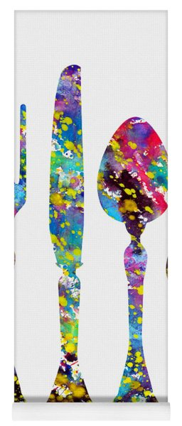 Fork Knife And Spoon-colorful Yoga Mat