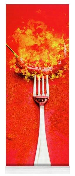 Forking Hot Food Yoga Mat