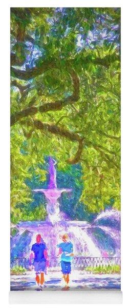 Forsyth Fountain Captured Yoga Mat