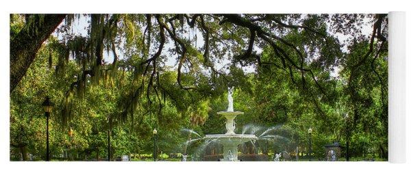 Forsyth Park Fountain Historic Savannah Georgia Yoga Mat