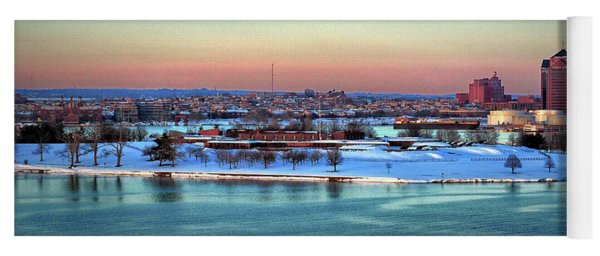 Fort Mchenry Shrouded In Snow Yoga Mat