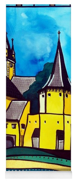 Fortified Medieval Church In Transylvania By Dora Hathazi Mendes Yoga Mat