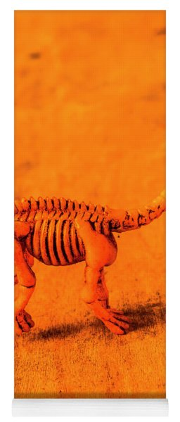 Fossilised Exhibit In Toy Dinosaurs Yoga Mat