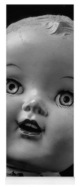 Found Dolls Head Yoga Mat