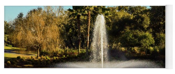 Fountain Spray At Tpc Sawgrass Yoga Mat