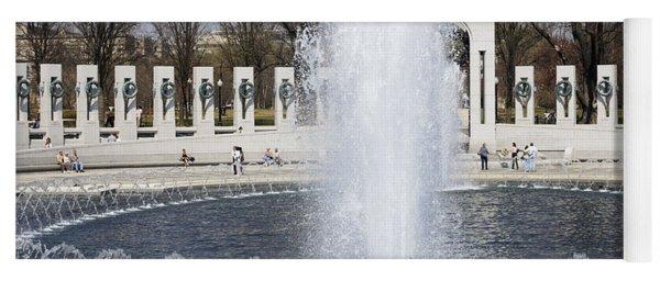 Fountains At The World War II Memorial In Washington Dc Yoga Mat