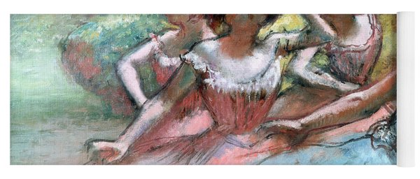 Four Ballerinas On The Stage Yoga Mat