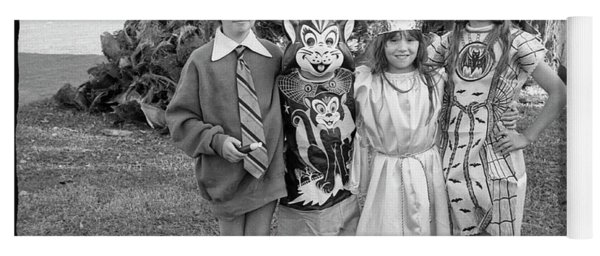 Four Girls In Halloween Costumes, 1971, Part One Yoga Mat