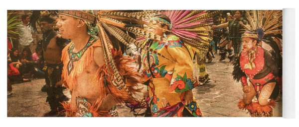 Four Indian Dancers Yoga Mat