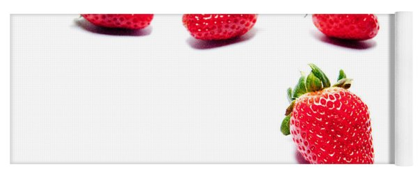 Four Strawberries Yoga Mat