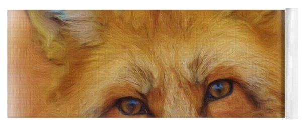 Fox Face Taken From Watercolour Painting Yoga Mat