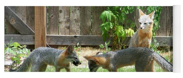 Fox Family Yoga Mat