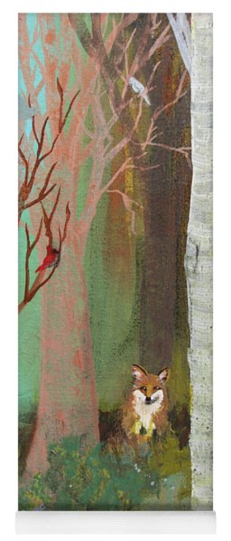 Fox In The Forest  Yoga Mat