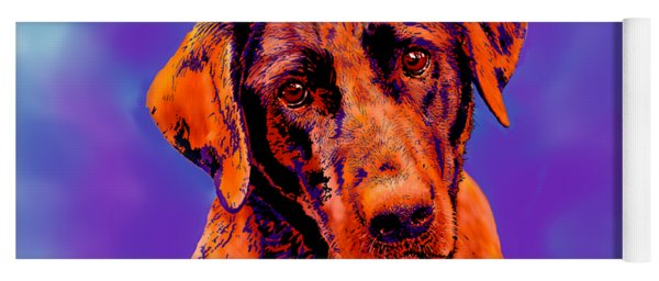 Fox Red Labrador Painting IIi Yoga Mat