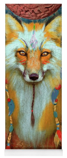 Fox Tribal Aimee Stewart Animal Yoga Mat