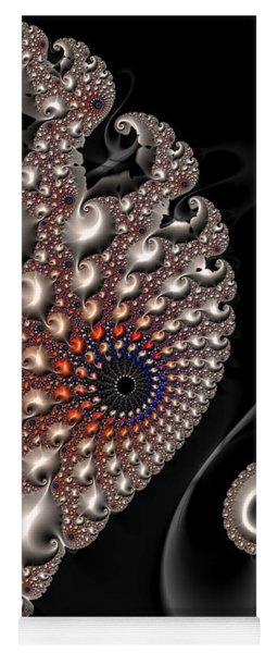 Fractal Contact - Silver Copper Black Yoga Mat
