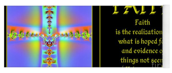 Fractal Faith Hebrews 11 Yoga Mat