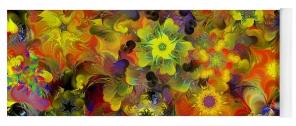 Fractal Floral Study 10-27-09 Yoga Mat