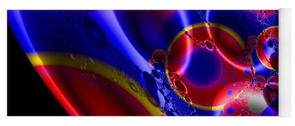 Fractal Luminescent Coloured Moon Yoga Mat