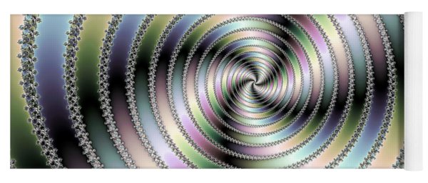 Fractal Op Art Hypnotizing Spiral Yoga Mat