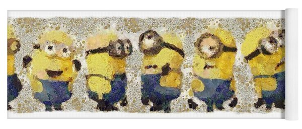 Fragmented And Still In Awe Congratulations Minions Yoga Mat