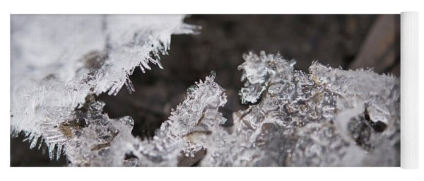Fragmented Ice Yoga Mat