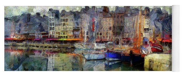 Yoga Mat featuring the photograph France Fishing Village by Claire Bull
