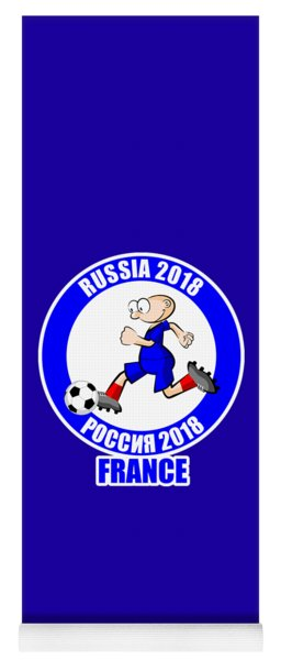 France In The Soccer World Cup Russia 2018 Yoga Mat