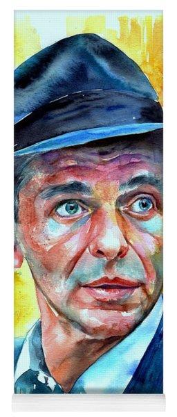 Frank Sinatra In Blue Fedora Yoga Mat