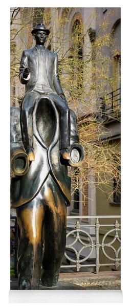 Franz Kafka Statue Prague Yoga Mat