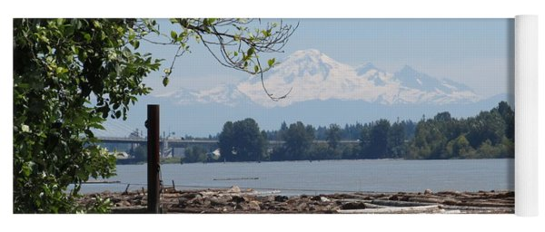 Fraser River And Mount Baker Yoga Mat