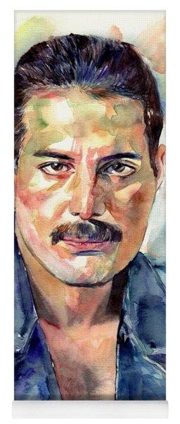 Freddie Mercury Portrait Yoga Mat
