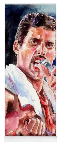 Freddie Mercury Singing Yoga Mat