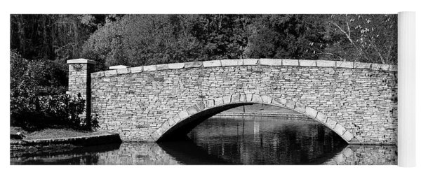 Freedom Park Bridge In Black And White Yoga Mat