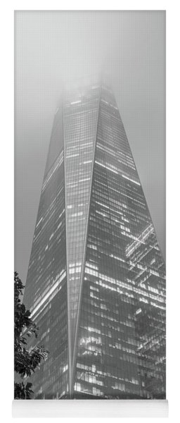 Freedom Tower Into The Fog  Yoga Mat