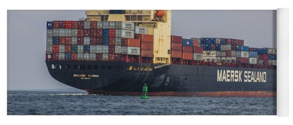 Freighter Headed Out To Sea Yoga Mat