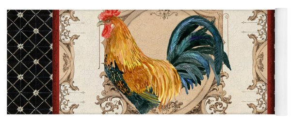 French Country Roosters Quartet 4 Yoga Mat