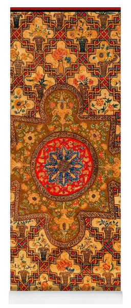 French Nineteenth Century Gothic Revival Tapestry Shabby Chic Yoga Mat
