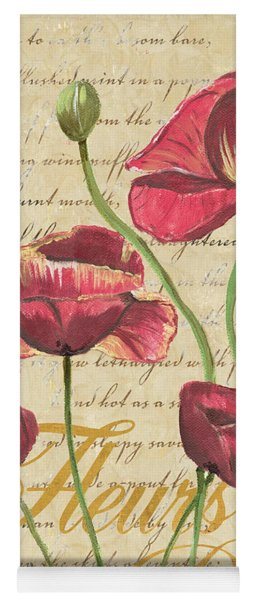 French Pink Poppies Yoga Mat