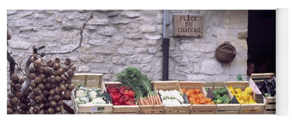 French Vegetable Stand Yoga Mat