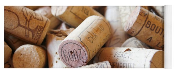 French Wine Corks Yoga Mat