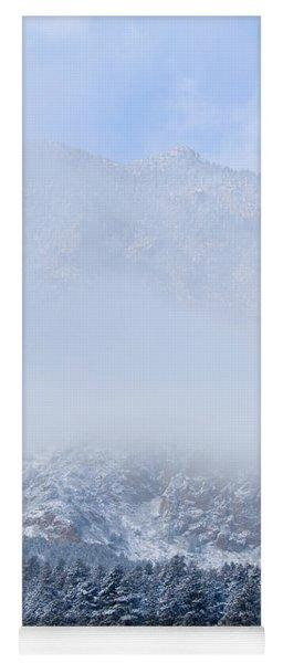 Fresh Snow In Cheyenne Mountain State Park Yoga Mat
