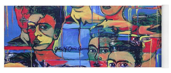 Frida Blue And Orange Yoga Mat
