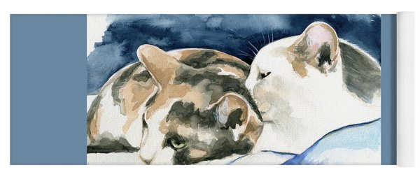 Friends Forever - Cat Painting Yoga Mat