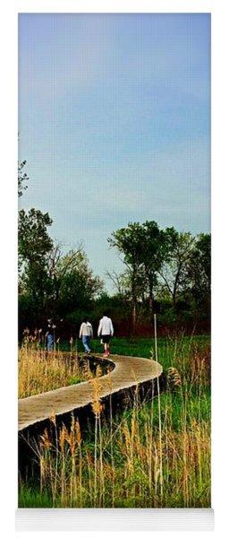 Friends Walking The Wetlands Trail Yoga Mat