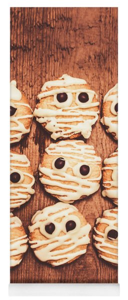 Frightened Mummy Baked Biscuits Yoga Mat