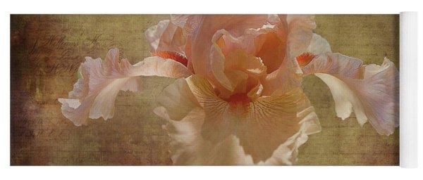 Frilly Iris Yoga Mat