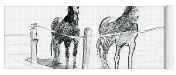 Friesian Horses Yoga Mat