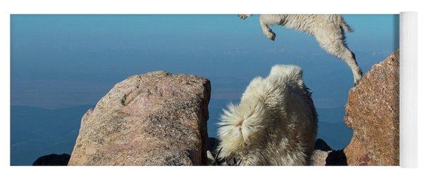 Leaping Baby Mountain Goat Yoga Mat